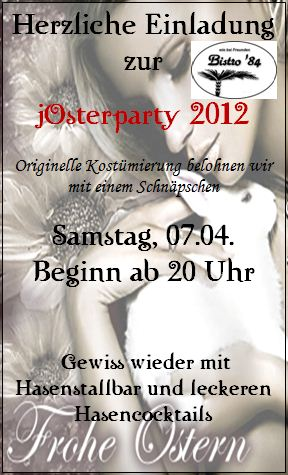 Flyer Josterparty 2012