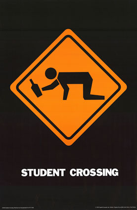student crossing